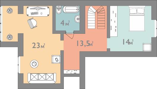 Планування трьокімнатна квартира 109 кв.м.