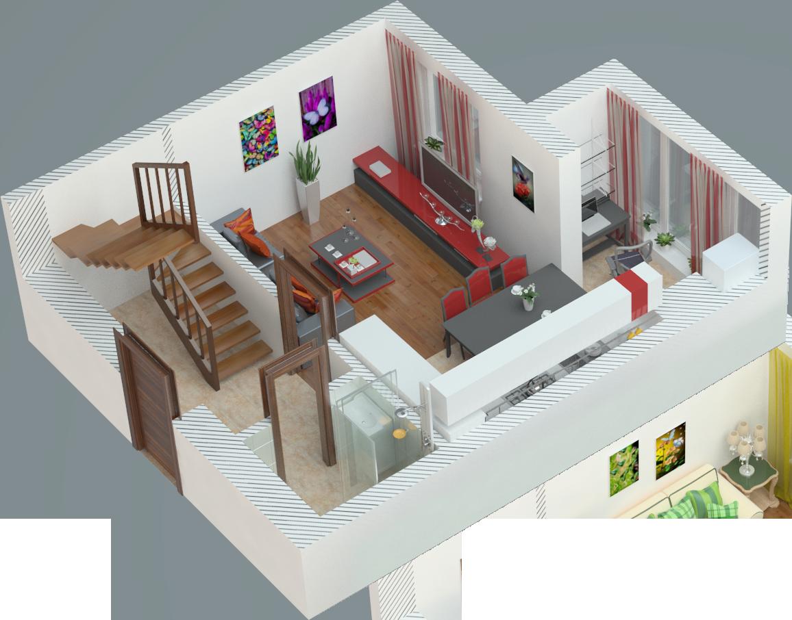 Планування двокімнатна квартира 70 кв.м.