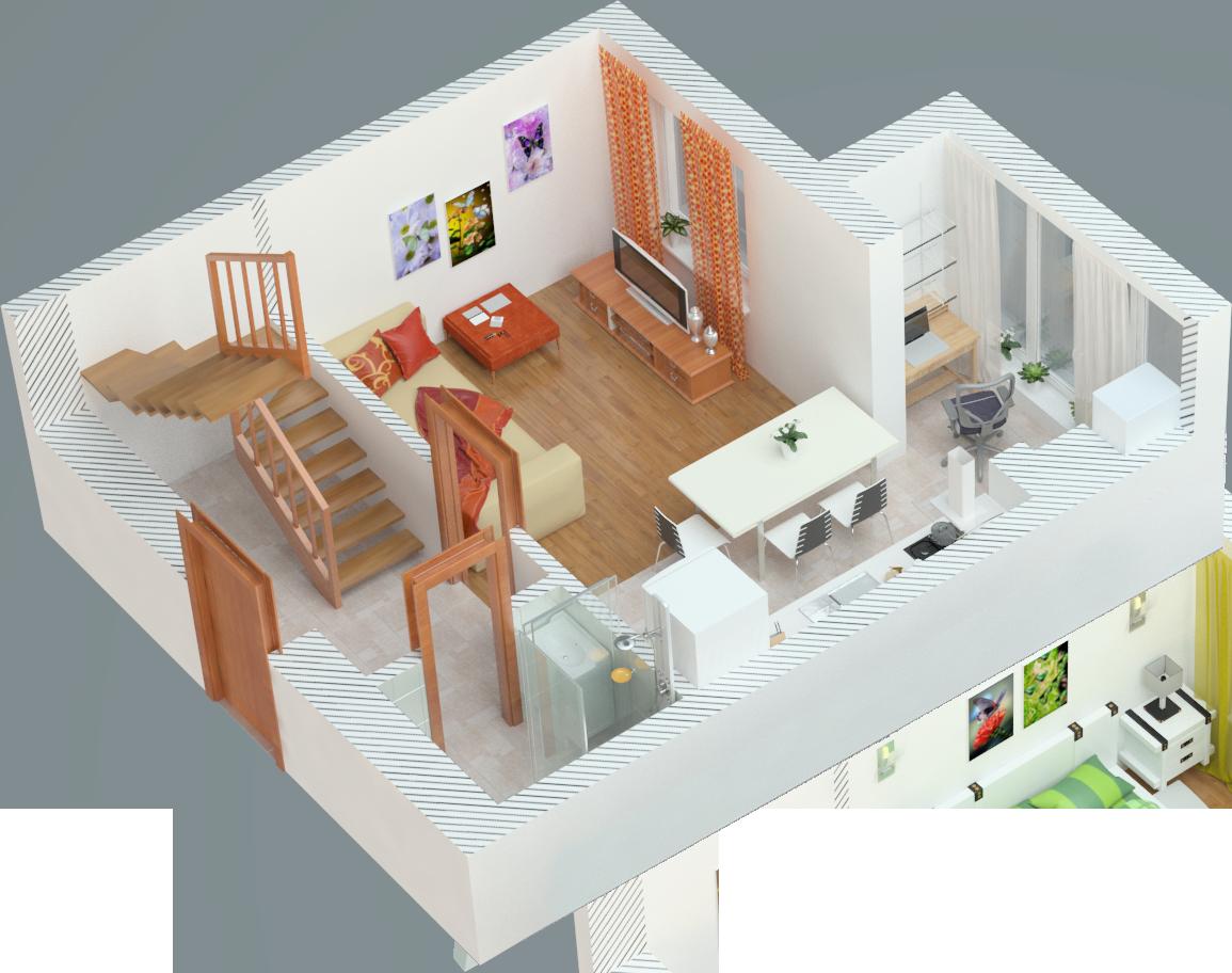 Планування двокімнатна квартира 70.5 кв.м.