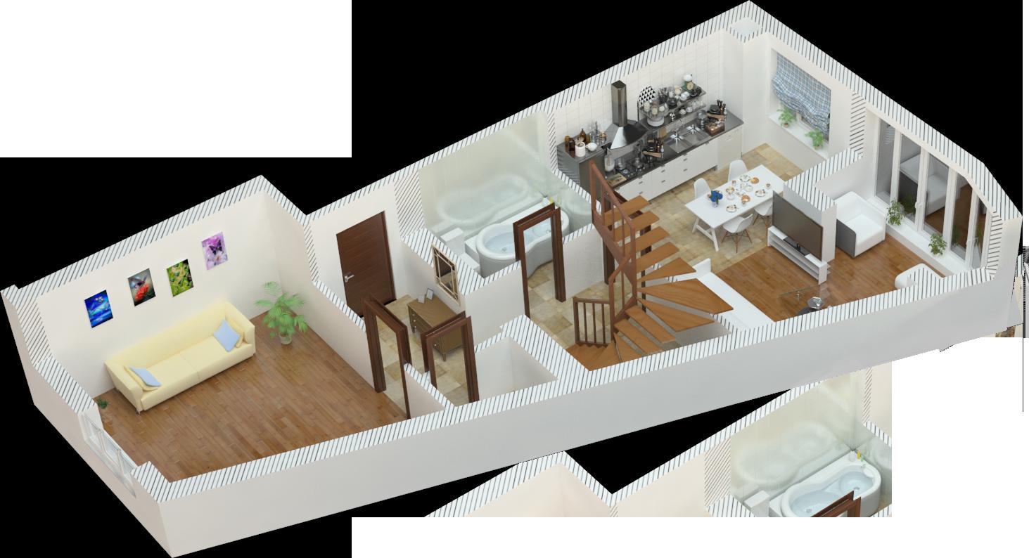 Планування трьокімнатна квартира 117 кв.м.