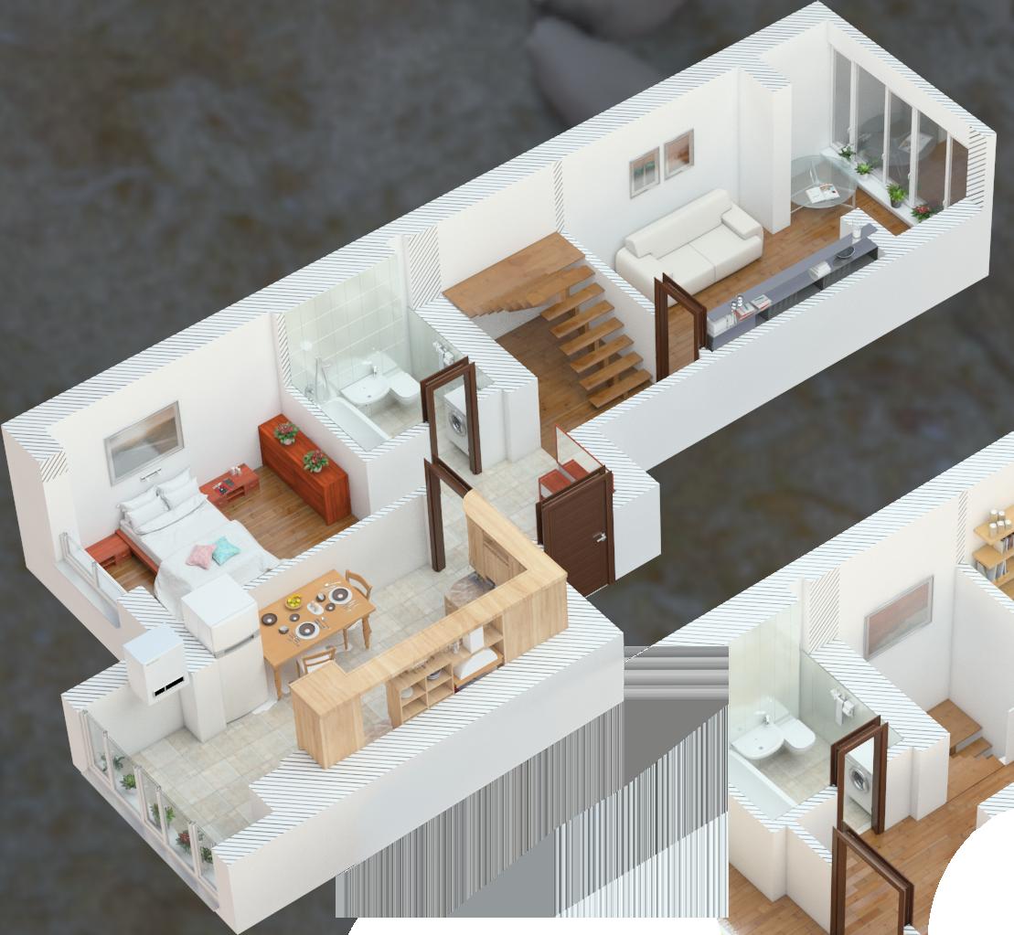 Планировка четырехкомнатная квартира 108 кв.м.