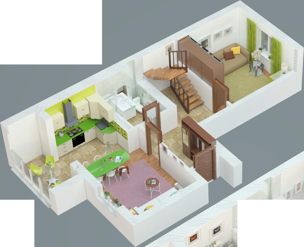 Планировка трехкомнатная квартира 109 кв.м.