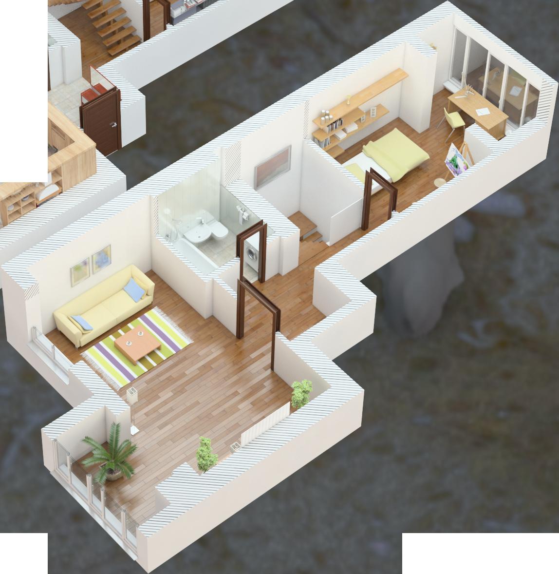 Планування чотирьохкімнатна квартира 108 кв.м.