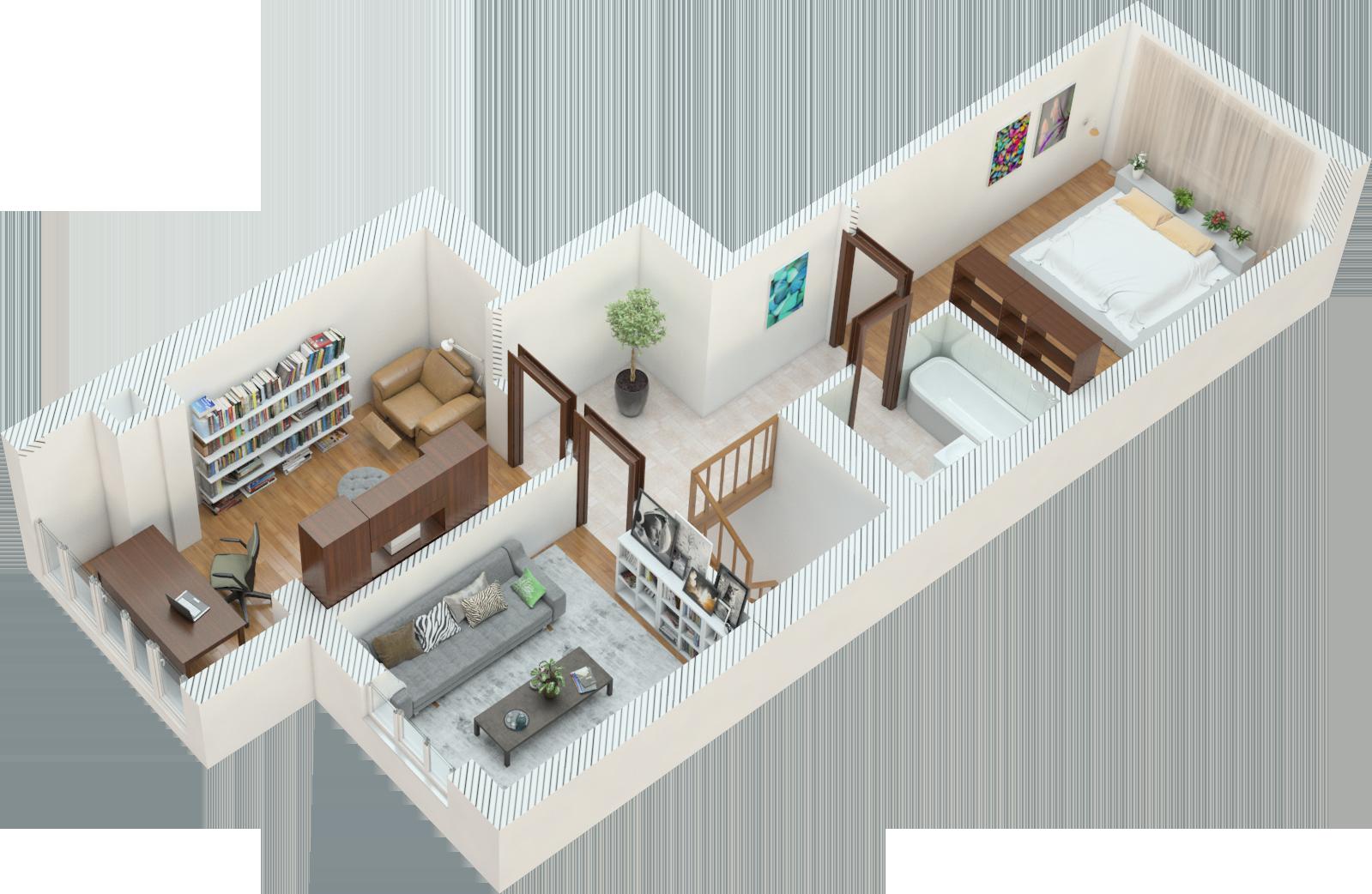 Планировка четырехкомнатная квартира 113 кв.м.